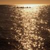 Kajaksejlads i solnedgang i Aarhus bugten
