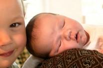 Nyfødt i famillien – brugt som portalbillede for Region Midt